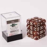 Dice 12mm Coffee Marbled