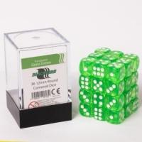 Dice 12mm Grass Gree Transparent