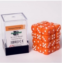Dice 12mm Opaque Orange