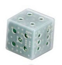 12mm Dice Cube Green