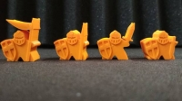 Thematic meeples - Knight Family