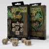 Celtic 3D Beige & black Dice Set