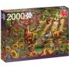 Magic forest at sunset - 2000 pcs