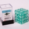 Dice 12mm CYAN Transparent
