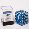Dice 12mm light Blue Marbled