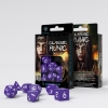 Classic Runic Purple & white Dice Set
