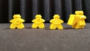 Thematic meeples - Cowboy Family