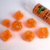 Dice Set Crystal Orange (7 Dice) 16mm